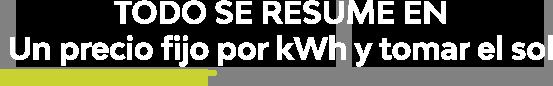 placas-solares-precio fijo por kWh